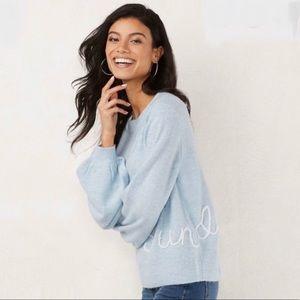 LC Lauren Conrad Ballon Sleeve Sunday Sweater
